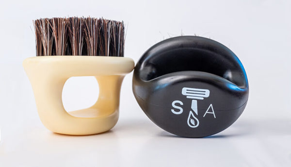 ShaveAware boar bristle beard brushes prep your skin and beard for a better, closer shave