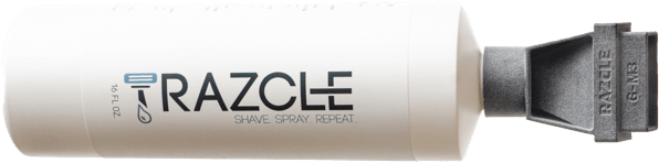 Shave. Save. Repeat. RAZCLE cleans your razor better--without wasting water.