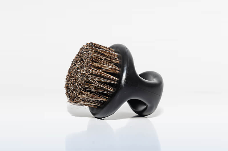 ShaveAware Boar's Hair Bristle beard brush preps your face better, naturally.