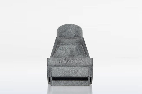 Patent Pending RAZCLE is 3D printed and guaranteed to refine your shaving routine.
