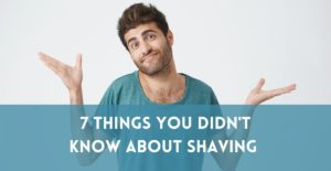 7 Things You Didn't Know about Shaving (but probably should) photo of a man shrugging