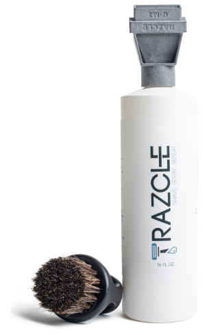 ShaveAware Bottle with Razcle and brush kit